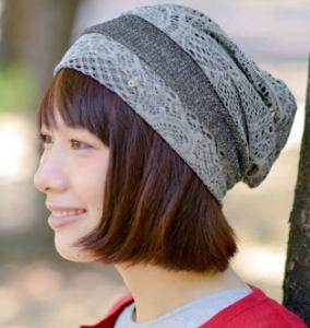 女性 サマーニット帽