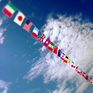 青空 国旗