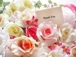 バラ 花束 thankyou
