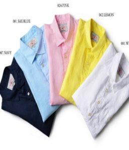 メンズ リネンシャツ