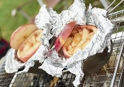 バーベキュー 蒸しりんご