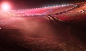 茶臼山の芝桜 ライトアップ