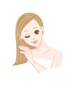 洗髪する女性 イラスト