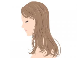 女性 長い髪 横顔