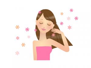 女性 長い髪 イラスト