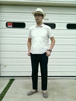 ラフコーデ パナマ帽