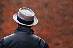 メンズコーデ パナマ帽