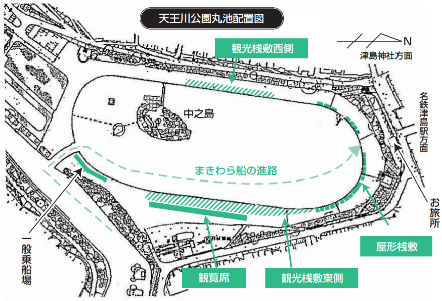尾張津島天王祭 有料観覧席 地図