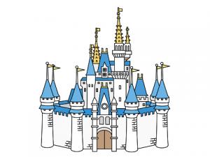 お城 ディズニー イラスト