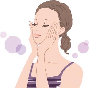 女性 スキンケア イラスト