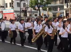 倉敷天領夏祭り パレード 音楽隊