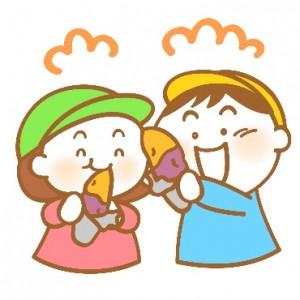 子ども 焼き芋