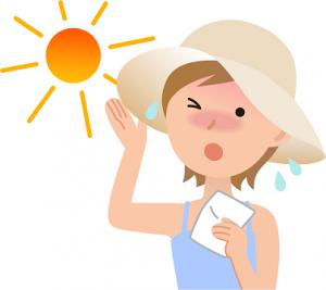 夏 太陽 女性 イラスト
