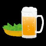 枝豆 ビール