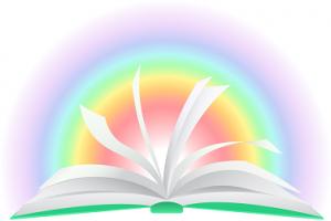 読書で視野が広まる イラスト