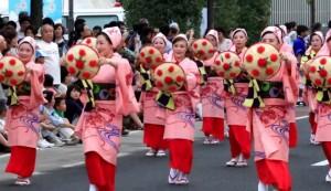 花笠 女性 踊り