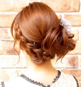 髪型 編み込み 女子
