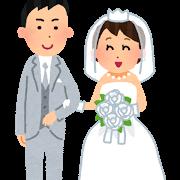 結婚式 花嫁 花婿 イラスト