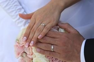 婚約指輪 新郎新婦