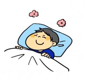 寝ている男性 イラスト