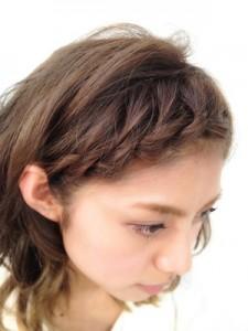前髪 編み込み