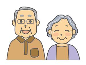 笑顔 老夫婦