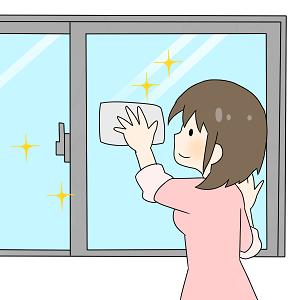 窓拭き ピカピカ