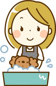 愛犬 シャンプー イラスト