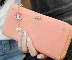 レディース 長財布 ピンク