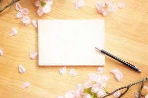 手紙 ペン 桜