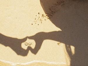 ハート 指輪 影