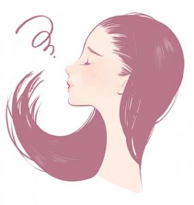 女性 髪 イラスト