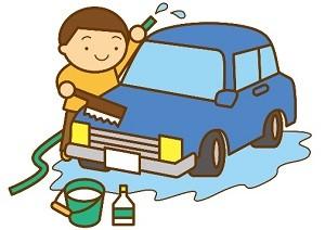 洗車する男性 イラスト