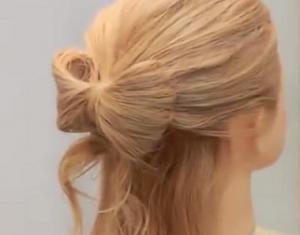 リボンヘア 髪型