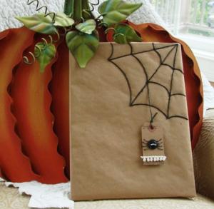 蜘蛛の巣 クラフト袋