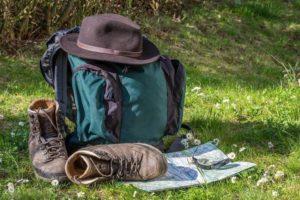 登山 リュック 靴 帽子