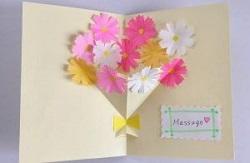 メッセージカード 花
