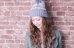 冬 ニット帽 女性