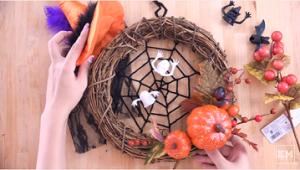 ハロウィンリース 蜘蛛の巣