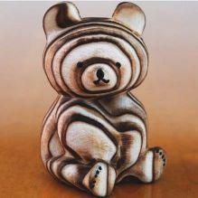 熊ボッコ 木彫り