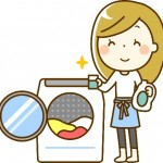洗濯 主婦 イラスト