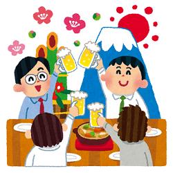 新年会 富士山 ビール