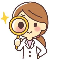 虫眼鏡 白衣