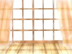 朝日 カーテン