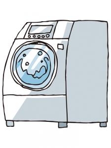 ドラム式洗濯機 イラスト