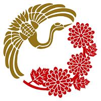 鶴と菊 イラスト