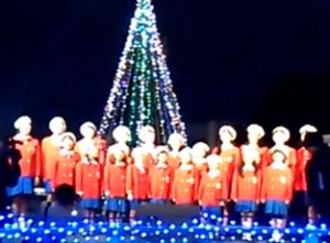 周南冬のツリーまつり 点灯式 子供 合唱