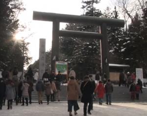 北海道神宮 初詣 鳥居
