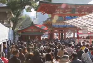 生田神社 初詣に訪れるたくさんの参拝客