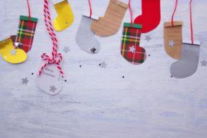 クリスマス 靴下 飾り付け
